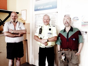 Bill Andrew, Tony Johnson and John Morse, Park Community Centre, Weymouth UK