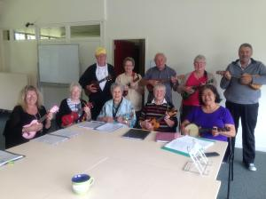 Rona Huggins and her Ukelele Group, Featherston Community Centre