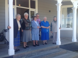 Some of the nuns of the Bridgettine Order, including Sister Helena (far left) and Sister Siprian, (3rd from the left), who attended the celebration